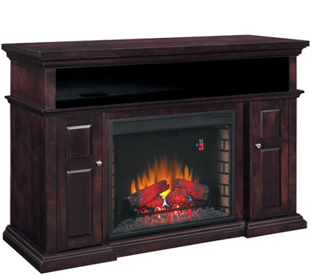 twin star pasadena home theater electric fireplace w remote qvc