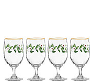 Lenox Holiday Set of 4 Iced Beverage Glasses - H284500
