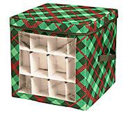 Honey-Can-Do Plaid Ornament Storage Cube - H295000