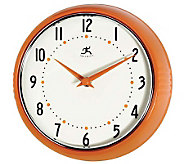 The Retro Orange Metal Wall Clock by Infinity - H157601