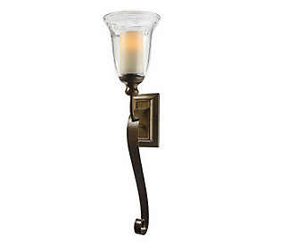 HomeReflections 27 Oversized Scroll Sconce & FlamelessCandle with