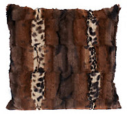 Dennis Basso Textured Faux Fur 18x18 Pillow - H193701