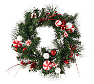 Peppermint 24 Wreath or 5 Peppermint Garland by Valerie - H205301