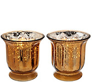 Set of 2 16 oz. Candles in Glass Hurricanes by Valerie - H206601