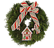 Del. Week 12/14 Fresh Balsam Holiday Wreath by Valerie - H206801