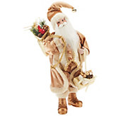 As Is Dennis Basso 18 Elegant Faux Fur Standing Santa - H208401