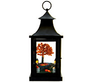 13 Illuminated Lantern with Harvest Scene by Valerie - H208801