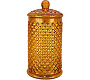 Illuminated Mercury Glass Honeycomb Apothecary Jar by Valerie - H211501