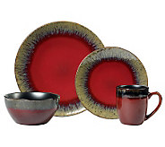 Gourmet Basics by Mikasa Calder Red 16-Piece Set - H282501