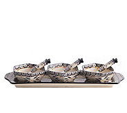 Temp-tations Old World Appetizer Set with 3 Cheese Spreaders - H284201