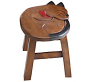 Plow & Hearth Handcarved Footstool - H287501