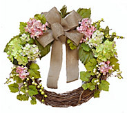 19 Pink and Green Hydrangea Wreath by ValerieParr Hill - H288201