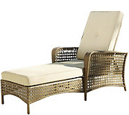 Cosco Lakewood Ranch Steel Chaise Lounge Chairw/ Woven Side - H289101