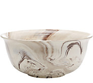 Twos Company Brown Marbleized Ceramic Bowl - H293501