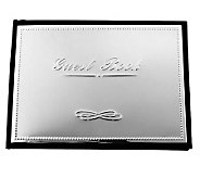Silvertone Wedding Guest Book - H348801