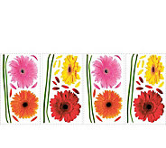 RoomMates Small Gerber Daisies Peel & Stick Wall Decals - H348901