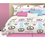 Veratex Peace and Love Twin Comforter Set - H351601