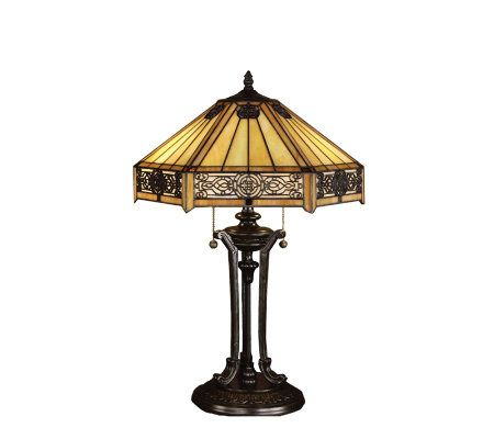 Tiffany Style Indus Table Lamp Page 1 Qvc Com