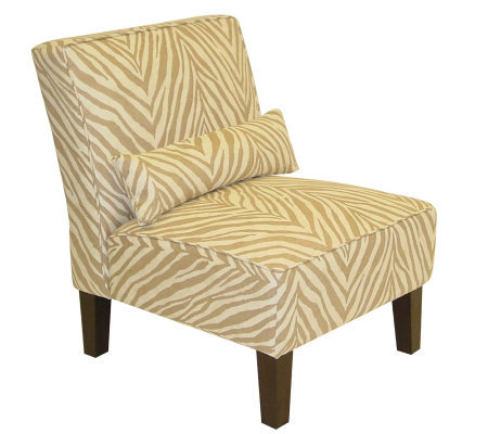 Skyline Furniture Armless Sudan Camel Slipper Chair Qvc Com