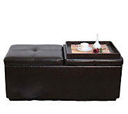 Espresso Simulated Leather Ottoman by Acme Furniture - H181602