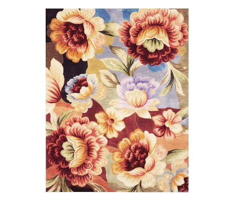 Royal Palace Watercolors Floral Dream 7 6 Quot X 9 6 Quot Wool Rug