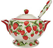 Temp-tations Figural Fruit Soup Tureen with Ladle - H208302
