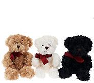 As Is Dennis Basso Set of Three Mini Faux Fur Teddy Bears - H208402