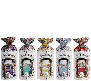 Poo-Pourri Set of 5 2 oz. Bathroom Deodorizers in Gift Boxes - H208802