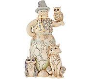 Jim Shore Heartwood Creek Woodland Snowman Figurine - H209202