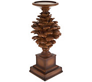 12.5 Pinecone Candle Holder Pedestal - H209402