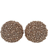 Set of 2 Illuminated Glitter Berry Spheres by Valerie - H211602