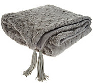 Inspire Me! Home Decor 50x60 Charlton Faux Fur Throw w/ Tassels - H213002