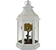 Illuminated 13 Lantern with Spring Scene Inside Auto-Delivery - H216502