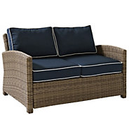 Crosley Outdoor Wicker Love Seat - Bradenton Collection - H289602