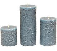 Set of 3 Textured Pillars by Valerie - H361902