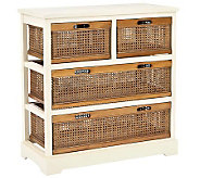 Safavieh Jackson 4-Drawer Storage Unit - Whitew/Cane Drawers - H362802