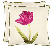Set of 2 18 x 18 Meadow Pillows in Fuchsia from Safavieh - H365802
