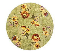 "Royal Palace Watercolors Silhouette 4'9"" Round Handmade Rug - H193603"