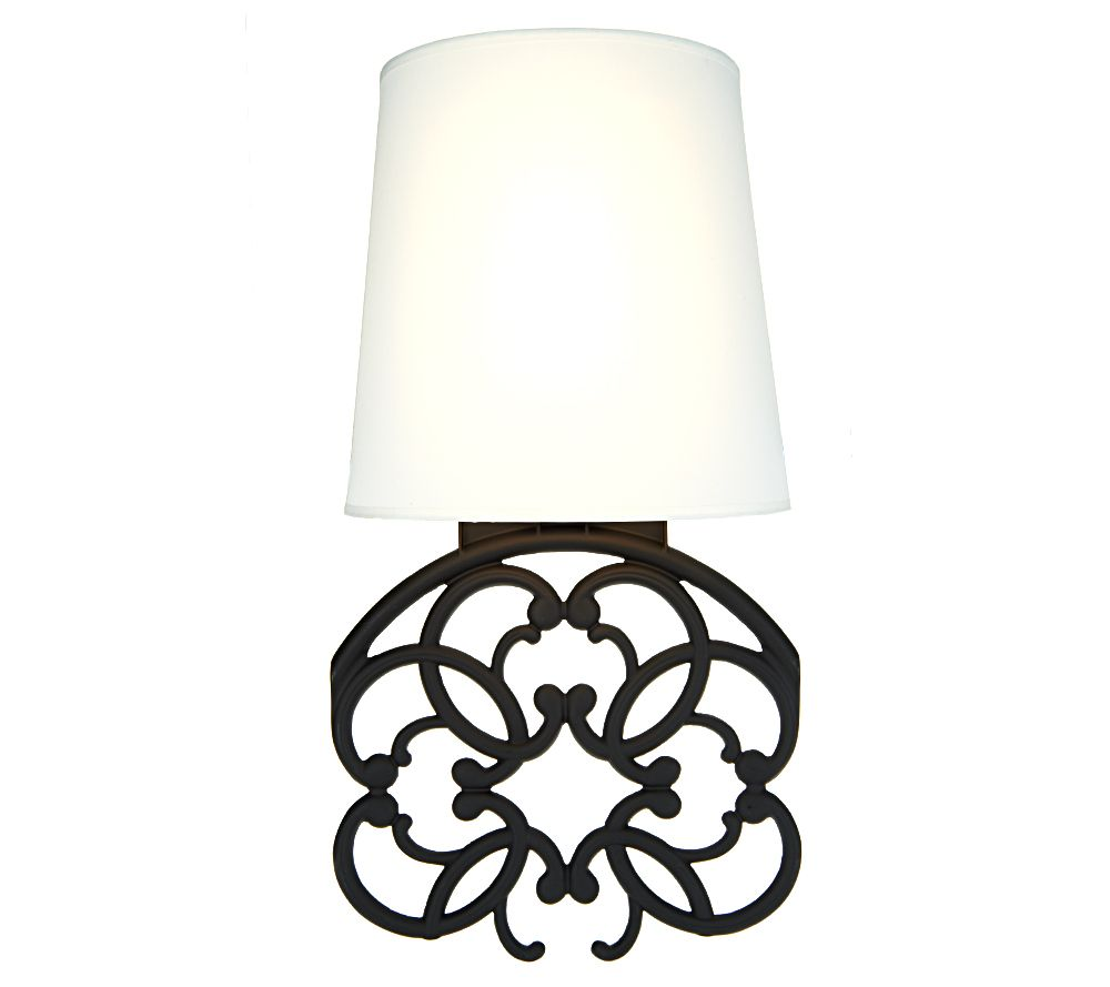 Home Reflections Scrollwork Wall Sconce - Page 1 QVC.com