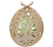 7 Ceramic Egg Luminary with Flameless Candle by Home Reflections - H202503