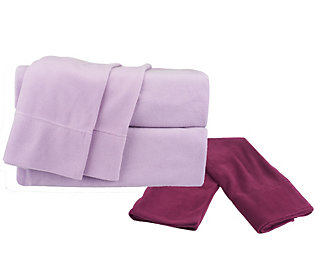 Product image of Malden Mills Polar Fleece TW Sheet Set w/ Extra Contrast Pillowcases