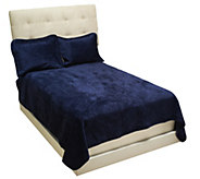 Dennis Basso FL/QN Micromink Quilted Coverlet and Shams Set - H203403
