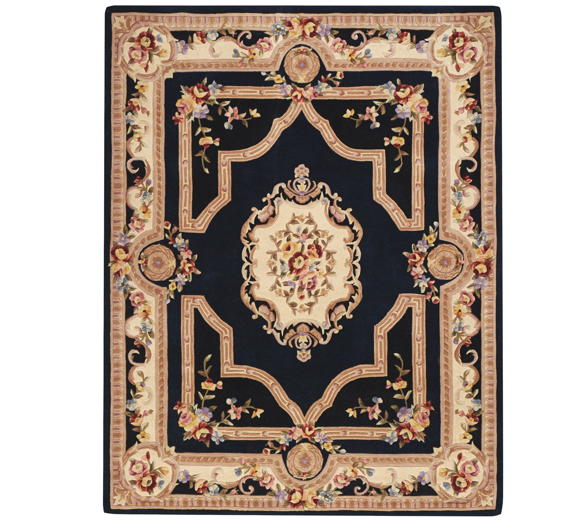 Royal Palace French Savonnerie 7' X 9' Wool Rug