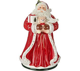 "Spode Christmas Tree 12"" Santa Cookie Jar"