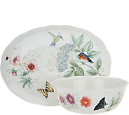 Lenox Butterfly Meadow Porcelain 2pc Flutter Completer Set - H209003