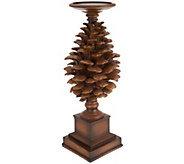 14.5 Pinecone Candle Holder Pedestal - H209403