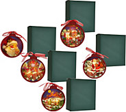 Set of 5 Illuminated Ornaments with Gift Boxes by Valerie - H209503