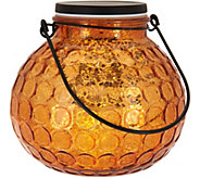 Illuminated Hammered Glass Round Lantern by Valerie - H210703