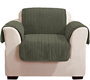 Sure Fit Quilted Cable Reverse to Sherpa Chair Furniture Cover - H213203