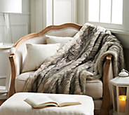 Casa Zeta-Jones 50 x 70 Faux Mink Fur Reversible Throw - H213503
